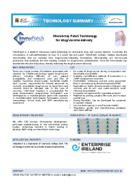 *COVID-19* MicroArray Patch Technology  for Drug/Vaccine Delivery  front page preview