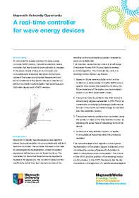 A Real Time Controller for Wave Energy Devices front page preview