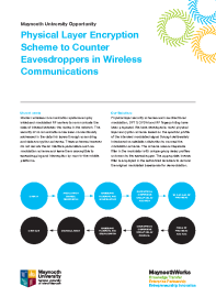 Physical Layer Encryption Scheme to Counter Eavesdroppers in Wireless Communications front page preview