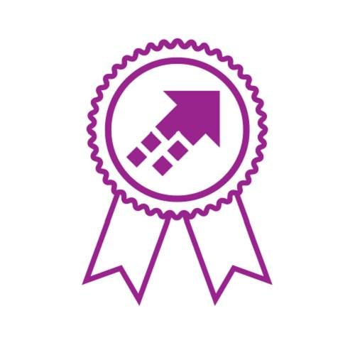 Knowledge Transfer Initiative Icon Purple on White