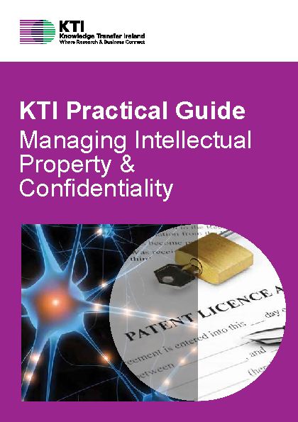 KTI Practical Guide Managing Intellectual Property & Confidentiality front page preview
