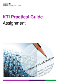 KTI Practical Guide to Assignment front page preview