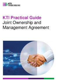 KTI Practical Guide to Joint Ownership Management Agreement front page preview
