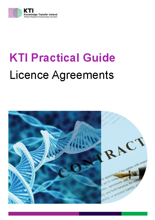 KTI Practical Guide to Licence Agreements front page preview