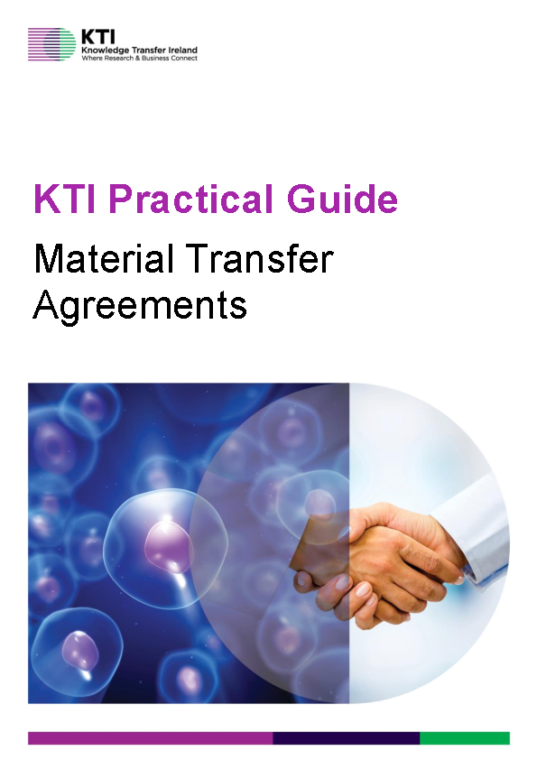 KTI Practical Guide to Material Transfer Agreements front page preview