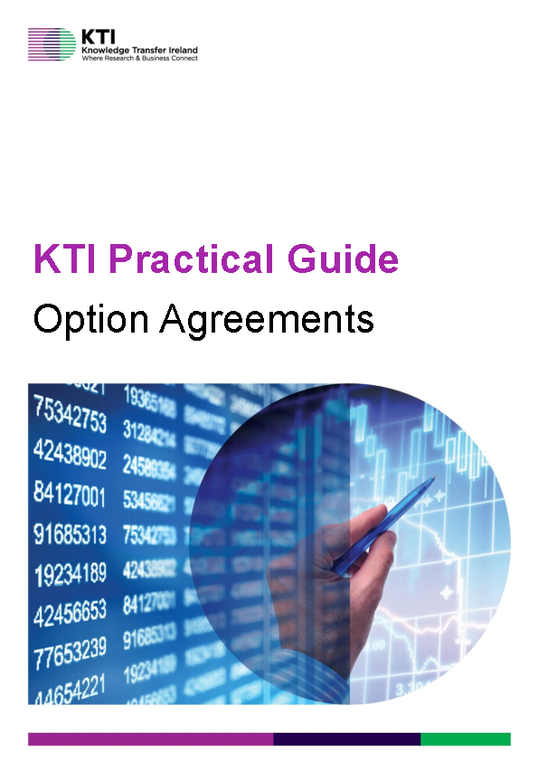 KTI Practical Guide to Option Agreements front page preview