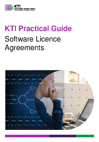 KTI Practical Guide to Software Licence Agreements front page preview